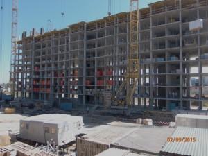 Начато строительство квартир на 9м этаже