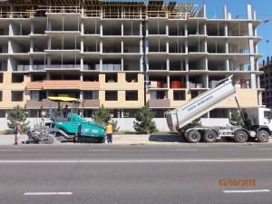 Строительство Парковки на улице 1го мая Ильичевск