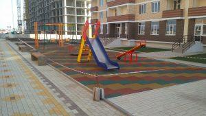 Пешеходный бульвар детская площдка